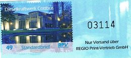 Deutschland Privatpost: Regio Print Vertrieb, Postfrische Marke Dieselkraftwerk Cottbus - Energie, Architektur - [7] Federal Republic