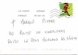 Enveloppe Oblitération LA POSTE 22586A 15/06/2016 - Sellado Mecánica (Otros)