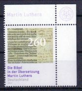 Deutschland 'Bibel-Übersetzung Martin Luthers' / Germany 'Martin Luther's Translation Of The Bible' **/MNH 2017 - [7] Federal Republic