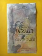 5956 - Dézalex Grand-Garde 1994  Suisse - Etiquettes