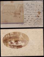 QUELQUE PART à LILLE - DEUX CARTES PHOTOS Expédiées De Lille Nord Vers Meaux En 1903 - Lille