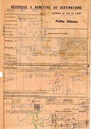 VP11.727 - Chemins De Fer De L'Est - Récépissé - Gare De COMMERCY Pour MANTES - GASSICOURT - Transportation Tickets