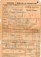 VP11.729 - Chemins De Fer De L'Etat - Récépissé - Gare De LOUVIGNE DU DESERT  Pour MANTES - GASSICOURT - Titres De Transport