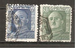 España/Spain-(usado) - Edifil  999-00 - Yvert  748-49 (o) - 1931-50 Used