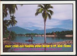 °°° CARNET 4 POSTCARDS - THAILAND - DAILY LIFE IN THE SUBURB OF NHA TRANG CITY °°° - Thaïlande