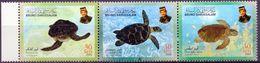 BRUNEI 2000 - Tortues, Reptiles - 3 Val Neufs // Mnh - Brunei (1984-...)