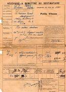 VP11.732 - Chemins De Fer De L'Est - Récépissé - Gare De SAULXURES  Pour MANTES - GASSICOURT - Transportation Tickets