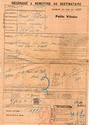 VP11.733 - Chemins De Fer De L'Est - Récépissé - Gare De CHEVILLON  Pour MANTES - GASSICOURT - Transportation Tickets