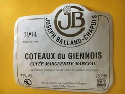 5965 - Côteaux Du Giennois 1994 Cuvée Marguerite Marceau - Etiquettes