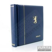 Schaubek KODKP344 Leatherette Spring Back Binder, Blue With Embossing Berlin And Coat Of Arms With Slipcase - Stockbooks