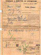 VP11.735 - Chemins De Fer De L'Est - Récépissé - Gare De SORCY Pour MANTES - GASSICOURT X NOISY - ARGENTEUIL - Titres De Transport