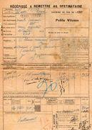 VP11.736 - Chemins De Fer De L'Est - Récépissé - Gare De SAULXURES Pour MANTES - GASSICOURT X NOISY - ARGENTEUIL - Titres De Transport
