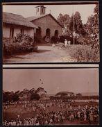 2 X PHOTO CARD - CARTE PHOTO TANGANYIKA ZANZIBAR - LAC VICTORIA - MISSION CATHOLIQUE - RARE !!! - Tanzanie