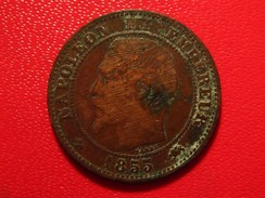 France - 2 Centimes 1855 D Lyon Ancre Napoléon III 3292 - B. 2 Centimes