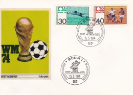 Germany FDC 1974 World Cup FIFA Football   (DD12-6) - Coppa Del Mondo