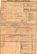 VP11.739 - Chemin De Fer De GUE A MENAUCOURT- Récépissé - Gare De SAVONNIERES Pour MANTES - GASSICOURT - Vervoerbewijzen