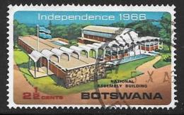 Botswana, Scott # 1 Used National Assembly Bldg, 1966 - Botswana (1966-...)