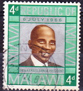 Malawi - Präsident Hastings Kamuzu Banda (MiNr: 56) 1966 - Gest Used Obl - Malawi (1964-...)