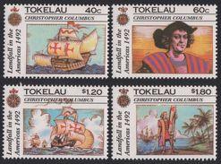 TOKELAU 1992 - Colomb, Bateaux Voiliers - 4 Val Neuf // Mnh - Tokelau