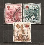 España/Spain-(usado) - Edifil  1103-05 - Yvert  824-25-Aéreo 249 (o) - 1951-60 Usados