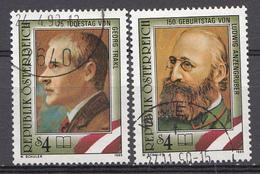 Autriche 1989  Mi.Nr: 1974-1975 Todestag Von Georg Trakl...  Oblitèré / Used / Gebruikt - 1945-.... 2ème République
