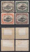P589.-.  PAPUA 1907 - SC#: 31-33, 37 - USED  - - Papua New Guinea