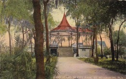 Florida St Petersburg Band Stand In City Park Curteich