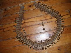 Bande Tissu Mitrailleuse Allemande MG 08 Souvenir Poilu 14-18 Tranchée Cartouches Mauser 1ère Guerre Mondiale - Armes Neutralisées