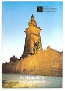 KYFFHÄUSER Burg Und Denkmal - LIVRET EN ALLEMAND - 24 Pages - Format 17 X 12 - (1996 Ou 1998) - Thuringe