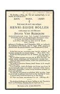 659. Henri-Egide BOLLEN - Schoolopziener Lager Onderwijs - °UYCKHOVEN 1876 / + RECKHEIM 1930 - Images Religieuses