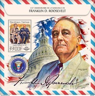 TOGO 2017 - F.D. Roosevelt, W. Churchill S/S. Official Issue. - Sir Winston Churchill