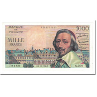 France, 1000 Francs, 1956, 1956-12-06, KM:134a, SPL+, Fayette:42.24 - 1 000 F 1953-1957 ''Richelieu''