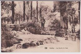 MATHA : LE MOULIN DU PONT - UN PECHEUR A LA LIGNE - ECRITE EN 1931 - 2 SCANS - - Matha