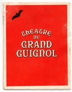 Théatre Grand Guignol Paris Enigme Chauve Souris - Programs