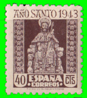 SELLO - ESPAÑA - CORREOS  -   AÑO SANTO COMPOSTELANO  1943-44 -   VALOR  40 CENTIMOS - 1931-Heute: 2. Rep. - ... Juan Carlos I