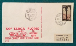 AUTOMOBILISMO 39 TARGA FLORIO PROVA CAMPION.VETTURE SPORT CERDA POSTE ITALIANE 16/10/1955 - Automovilismo