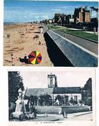 HERMANVILLE  14  Villas Et Plage .église Et Monument . Animées .2 Cartes . - France
