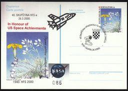 Croatia Zagreb 2000 / 40 Assembly Of The Croatian Philatelic Federation / NASA / US Space - Croatie