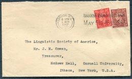 1947 GB Dawson & Son, Macklin Steet, London PERFIN Cover 'British Industries Fair' - Linguistic Society Of America - 1902-1951 (Kings)