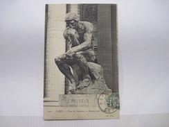 CPA PARIS Place Du Panthéon Le Penseur Par A Rodin  T.B.E. - Plazas