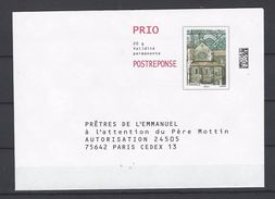 PAP REPONSE: (Période Ciappa)  PRETRES DE L'EMMANUEL. N° 81380 - Entiers Postaux