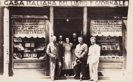 RIO DE JANEIRO - CASA ITALIANA DEL LIBRO E GIORNALE  NEGOZIO LIBRERIA - SENTIRAI LA VOCE DI D' ANNUNZIO E MUSSOLINI 1938 - Lieux