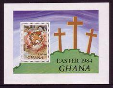Ghana Uncut Proof Sheet - Easter - More Details Below - Christentum