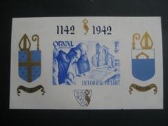 Belgique -  BF 19 ND Yvert Et Tellier  - Reconstruction De L'Abbaye D'Orval (inscriptions En Bleu) - Blocks & Kleinbögen 1924-1960