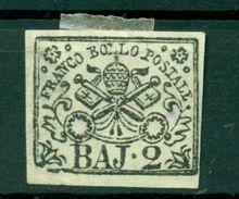 Etats Pontificaux 1852/64 - Y & T. N. 3A - Armoiries 2 Baj. (xiii) - Etats Pontificaux