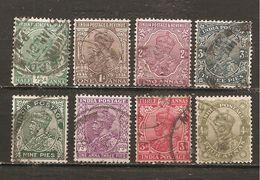 India Inglesa - Nº Yvert 109-11, 113-113A-113B, 117A, 118 (usado) (o). - India (...-1947)
