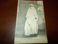 A2078  Mouresque Voilee' Donna Con Velo Viaggiata Cm14x9 - Cartoline