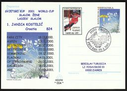 Croatia Zagreb 2001 / Janica Kostelic Winner Of The Alpine Skiing Ladie's Slalom 2000./2001. - Ski