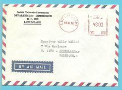 Brief Met Mekanische Roodfrankeering (F29)  ZAIRE / LUBUMBASHI - Zaïre
