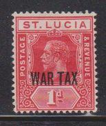 ST LUCIA Scott # MR2 MH - KGV War Tax Overprint - St.Lucia (1979-...)